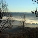 Langhe hills in winter