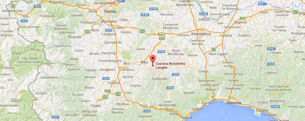 Cascina Bricchetto Location